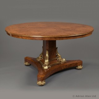 George IV Parcel-Gilt Amboyna Centre Table