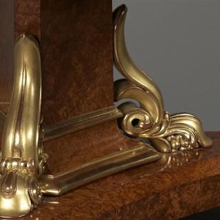 George IV Parcel-Gilt Amboyna Centre Table
