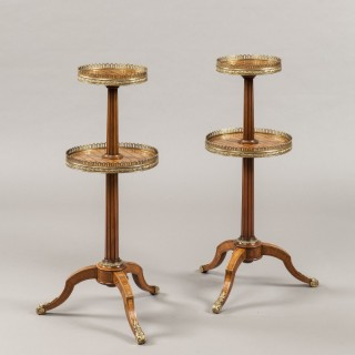 A Pair of Antique Kingwood Étagères