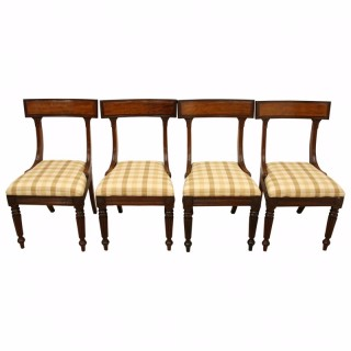 Set of 4 George IV Mahogany Dining Chairs