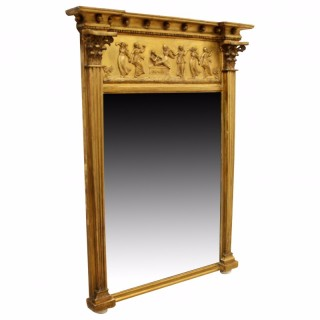 Late Regency Carved Gilt Pier Mirror