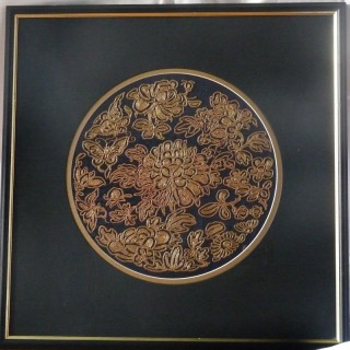 Chinese silk antique embroidery
