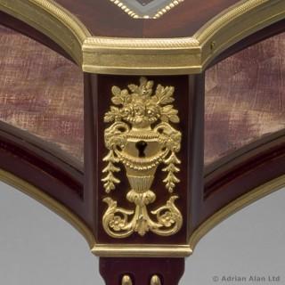 Gilt-Bronze Mounted Mahogany Table Vitrine