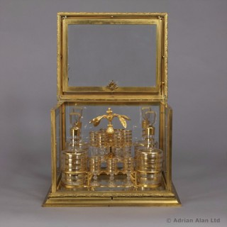 Gilt-Bronze and Cut-Glass Decanter Set