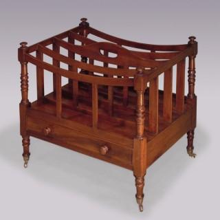 Regency period mahogany Canterbury