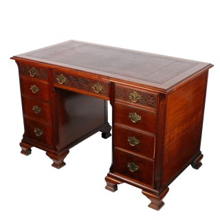 Edwardian Knee Hole Desk
