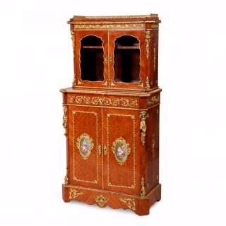 A Napoleon III period ormolu and porcelain mounted cabinet by Louis Grade