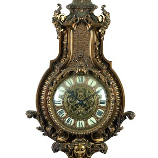 A fine Louis XIV style ormolu clock and barometer set by A. Beurdeley