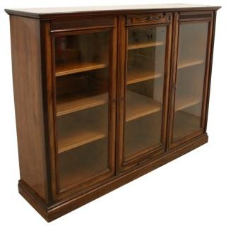 Late Victorian Mahogany Cabinet Bookcase