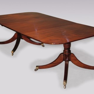 George III period mahogany 2-pedestal Dining Table