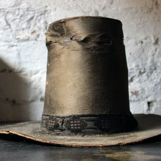 A Glorious Mid-19thC Ladies Silk Welsh Hat 'Het Gymreig' by Carver & Co late Dale & Co' c.1850