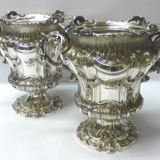 Victorian Silver Plated Wine Coolers