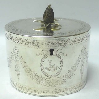 George III Silver Caddy Box by Hester Bateman