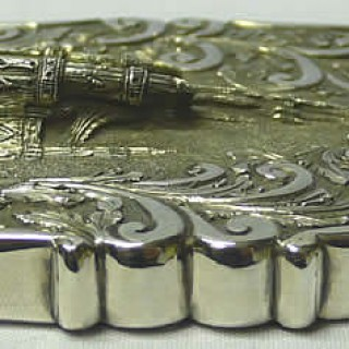 Antique Silver Card Case
