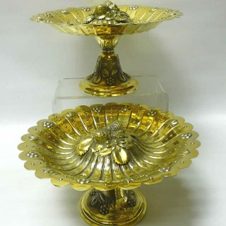 Pair of Victorian Silver Gilt Tazzas by Walter & John Barnard