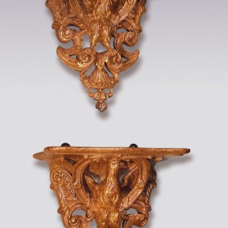 Pair of mid 18th Century giltwood Wall Brackets
