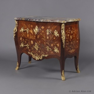 Louis XV Style Commode With Marble Top
