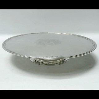 Queen Anne Silver Footed Salver