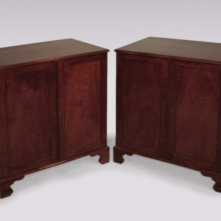 Pair of George III period mahogany Folio Cabinets