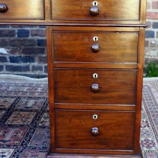 Antique English Mahogany Pedestal Desk