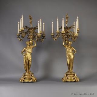 Pair of Napoléon III Figural Candelabra