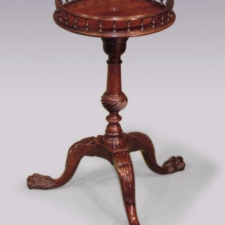 Chippendale period mahogany Kettle Stand.