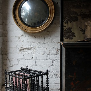 A Decorative Regency Period Giltwood & Gesso Convex Wall Mirror c.1820