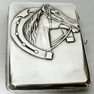 Antique Estonian Silver Cigarette Case