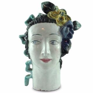 Wiener Werkstatte pottery head by Lotte Calm