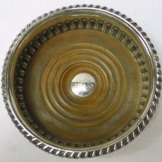 Georgian Silver Wine Coasters
