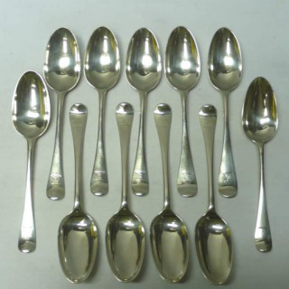 George II Set of Silver Serving Spoons