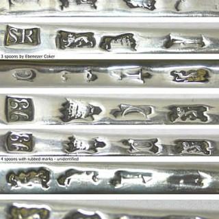 George II Set of Silver Serving Spoons