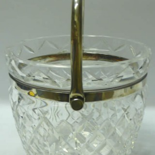 Vintage Silver Plate and Crystal Bucket