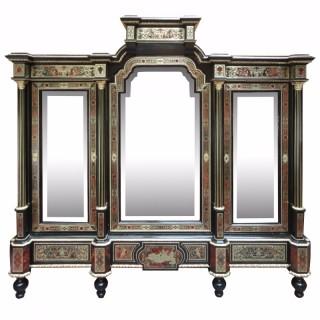 A fine and unusual Napoleon III period Boulle cabinet