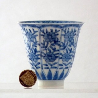 Kangxi Blue and White Flaring Beaker