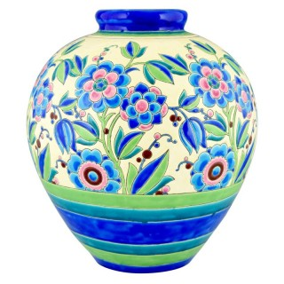 Art Deco vase with flowers.