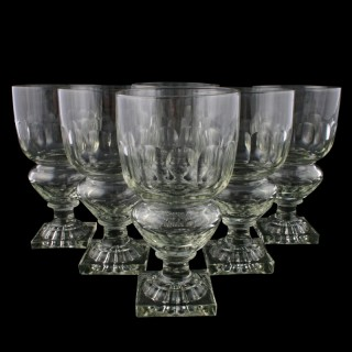 Six Regency Glass Goblets