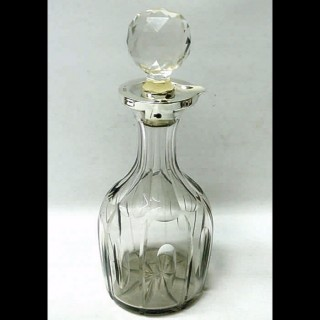 Vintage Silver and Crystal Locking Decanter