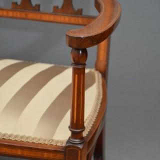Elegant Edwardian Sofa in Mahogany
