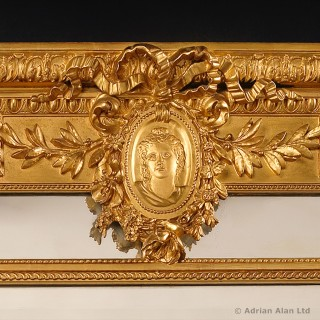 Louis XVI Style Composition Marginal Mirror