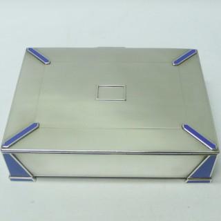 Art Deco Silver and Enamel Box