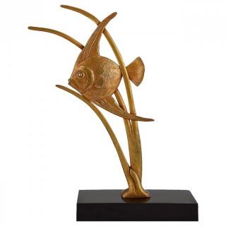 Art Deco bronze fish