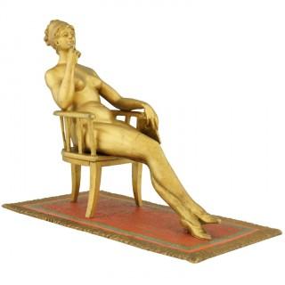 Erotic cold painted Vienna bronze