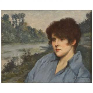 Portrait of Mme Henriette Roger Jourdain.