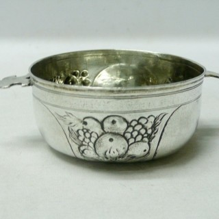 Antique German Silver Wine Taster