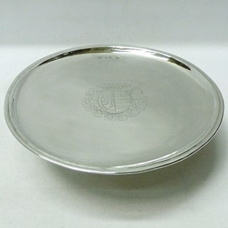 Antique Queen Anne Footed Salver