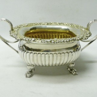 Antique Silver Sugar Bowl