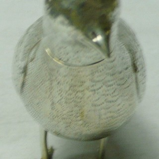 Antique Dutch Silver Bird