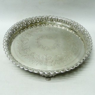Antique Portuguese Silver Salver
