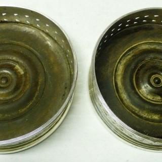 Pair of George III Silver Wine Coasters